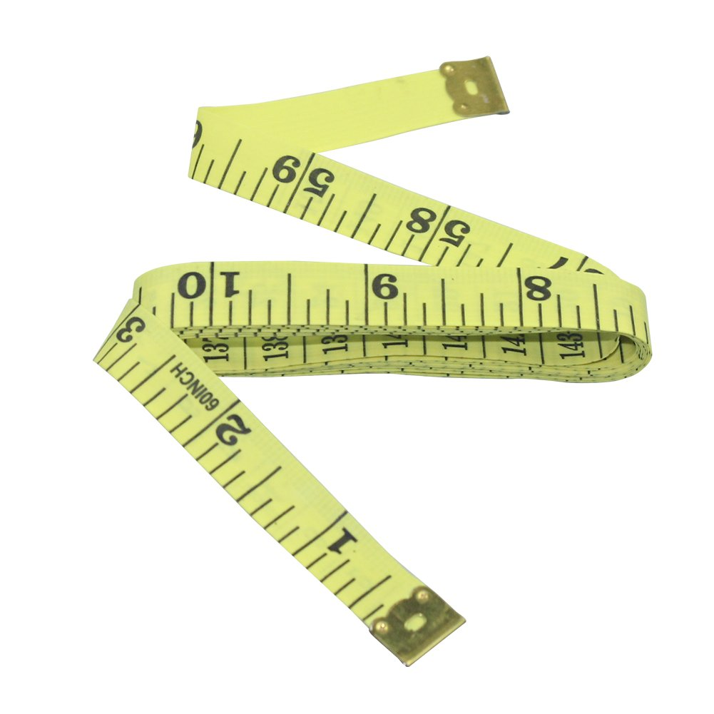 Yellow, one Size Nanooer Flexible Lightweight Tape Measure Body for Sewing Tailor 60 Cloth Ruler
