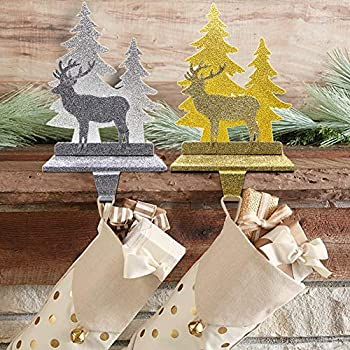 FORUP Christmas Reindeer Stocking Holder Stand Hangers