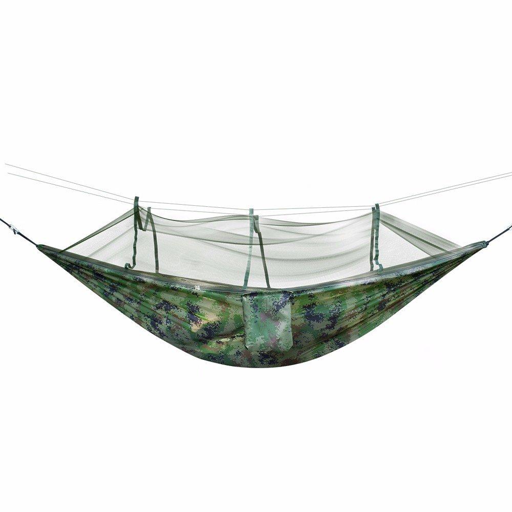 SUHANG Hängematte Insektizid-Behandelte Moskitonetze Hängematten Hängematten Outdoor Doppelzimmer Single Camping Net Garn Hängematte Mosquito Control