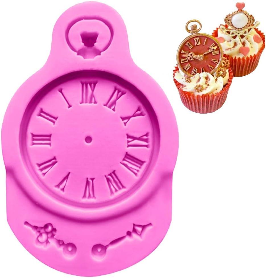 Molde de silicona de resina para tartas con forma de reloj, molde ...