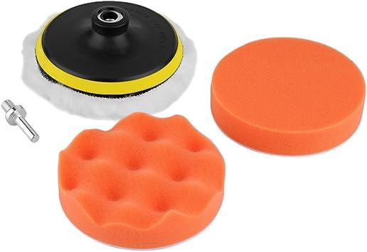 "5pcs 5/"" Gross Polishing Waxing Pad Set /& Drill Adapter for Car Polisher Buffer"