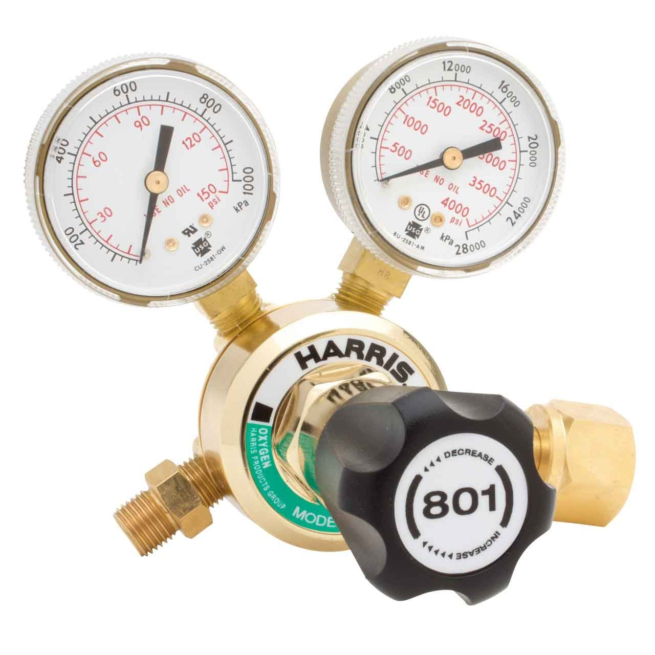 Harris 801 Medium Duty Oxygen Regulator CGA 540, 3002194