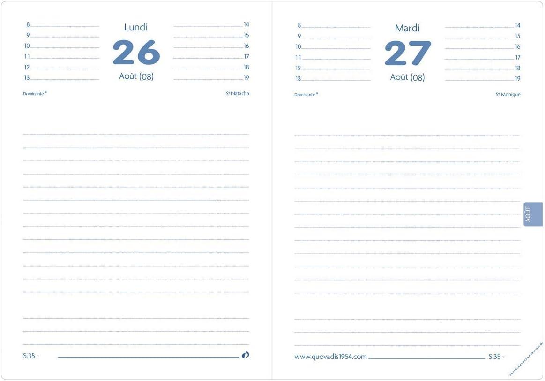 French Language Quo Vadis Ben TEXTAGENDA 2020-2021 Daily Academic Diary 12 x 17 cmToday I Take My Time