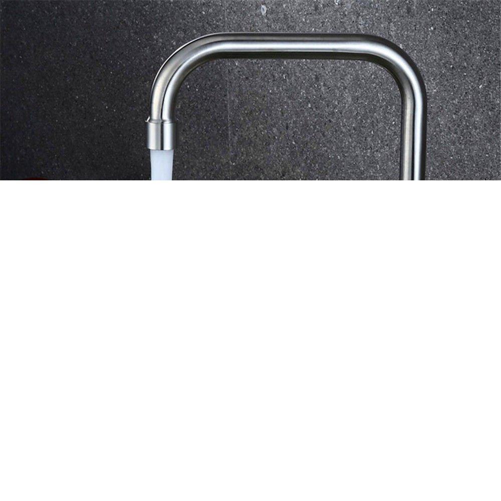 MEIBATH Grifos de Lavabo Agua friacute;a de Acero Acero Acero Inoxidable Giratorio Fregadero Grifos de Cocina f38265
