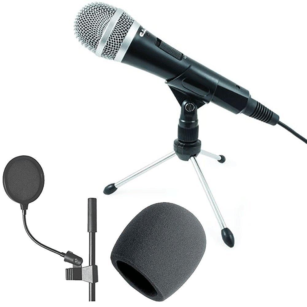 Micrófono de grabación dinámica USB CAD U1 + filtro pop de 4 pulgadas + espuma - ¡Paquete de accesorios CAD de gran valo