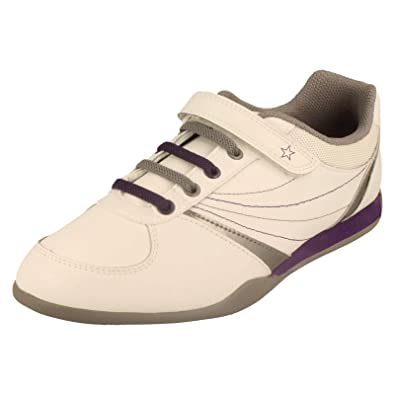 e5928920ca94 BOOTLEG Girls Clarks Trainers Bling Chic - White Leather - UK Size 4.5F - EU