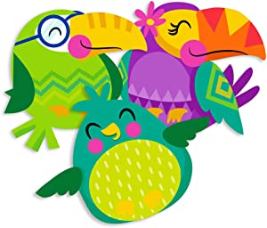 Eureka Back to School Multicolored Toucan Paper Cut-Out Decorations for Teachers, 36 pc, 5.5'' W x 5.5'' H