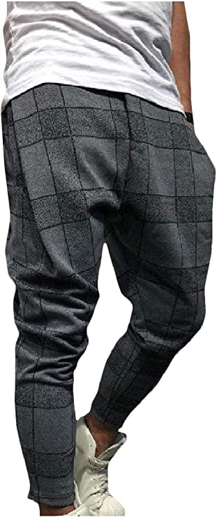 Winwinus Mens Relaxed-Fit Patched Lace-up Fashion Casual Pants with Pockets