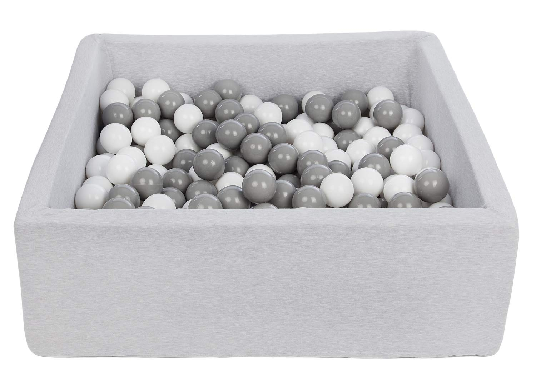 Dimensions: 90x90 cm Velinda Piscine a balles pour Enfant 200 balles Couleurs des balles: Blanc Aire de Jeu