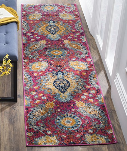 Safavieh MAD600A-210 Madison Collection Abstract Area Runner -  - runner-rugs, entryway-furniture-decor, entryway-laundry-room - 611aGy8A3xL -