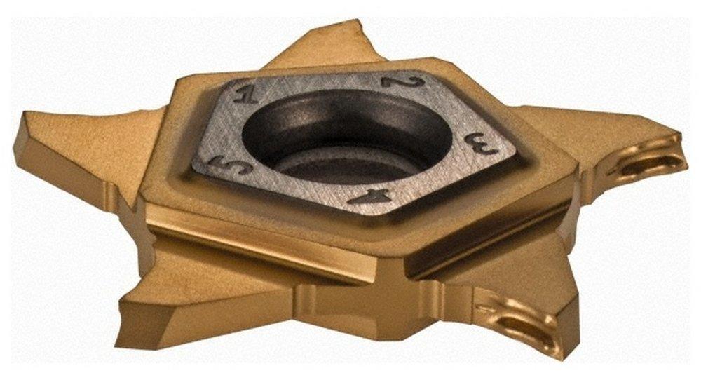 PENTA24R150 Z IC1008 Grade, 0.059'' Cutting Width, Carbide Cutoff Insert, 15 Right Hand Lead Angle, 0.002'' Cnr Rad, TiN/TiAlN Coated