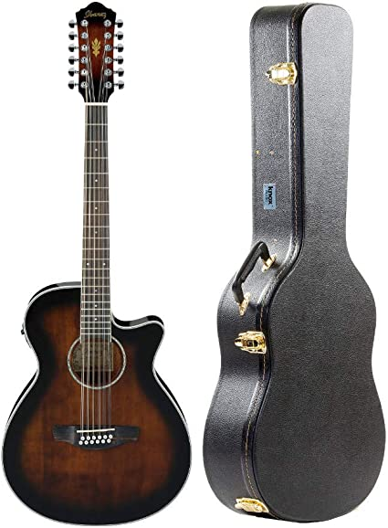 Ibanez AEG1812II Paquete de guitarra acústica eléctrica de 12 ...