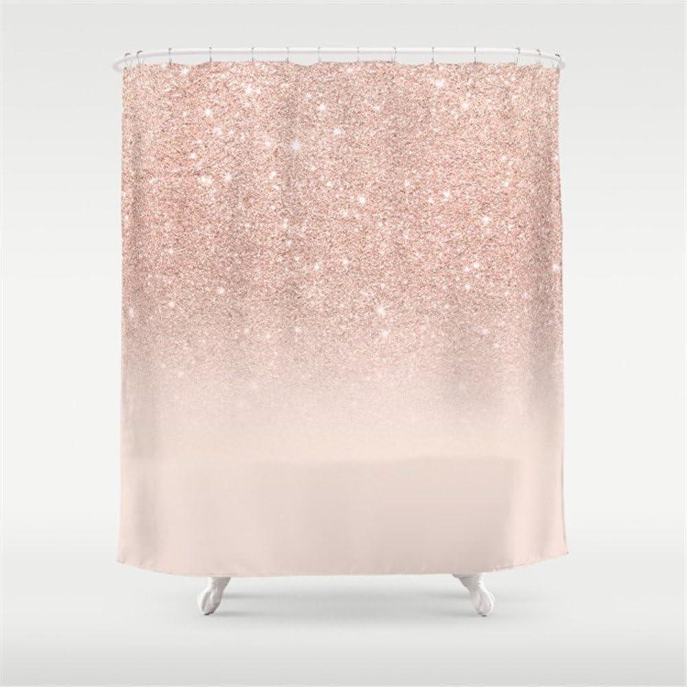 Serviettes de Toilette Modern Faux Rose Gold Pink Glitter Ombre White Marble Beach Towel 31x51 inches Gebrb Serviette de Bain