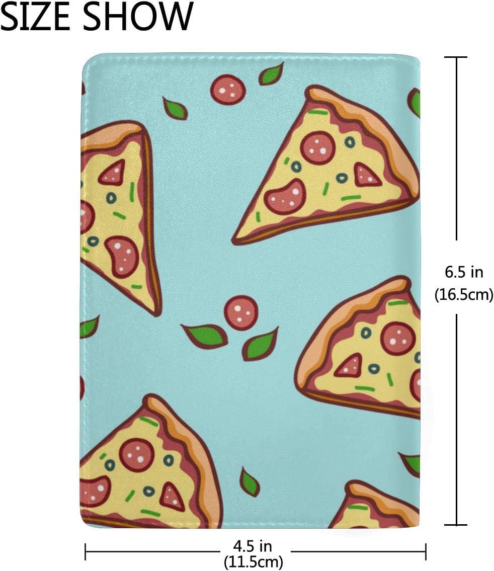 Personalized Passport Holder Cover Delicious Pizza Pop Art Comics Stylish Pu Leather Travel Accessories Us Passport Case For Women Men