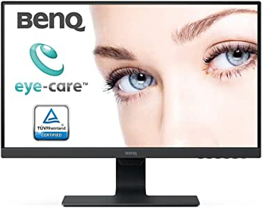 BenQ 23.8 Inch FHD 1080p Eye-Care LED Monitor (GW2480), 1920x1080 Display, IPS ,Brightness Intelligence, Low Blue Light, Flicker-free, Ultra Slim Bezel, Cable Management System, HDMI, 24-inch, Black