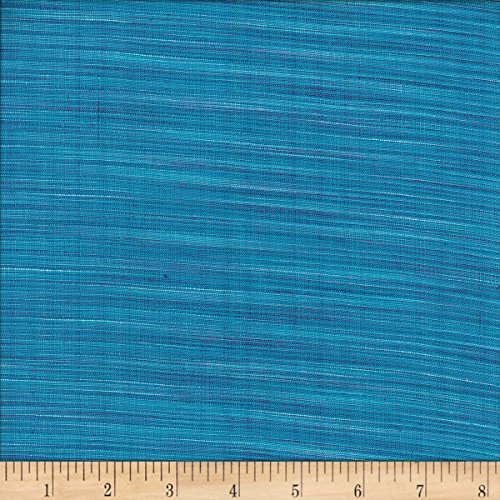 Textile Creations Winding Ridge Ikat Yarn Dyed Blue/Turquoise Fabric by The Yard