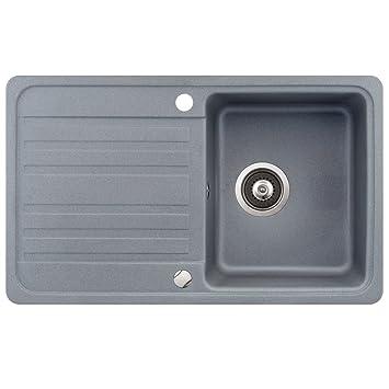 Spüle Granit Verbundspüle Küchenspüle Einbauspüle Auflage 760 x ... | {Spülbecken granit grau 15}