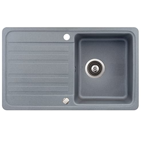 Spülbecken granit grau  Spüle Granit Verbundspüle Küchenspüle Einbauspüle Auflage 760 x ...