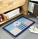 TMJJ Rugs for Bedroom & Bathroom & Kitchen Water Absorption Non-slip Floor Mat,15.75 x 23.62 inches