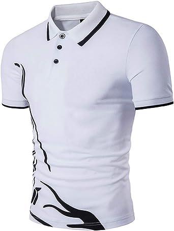 Modchok - Camiseta de manga corta para hombre, polo, con botones ...