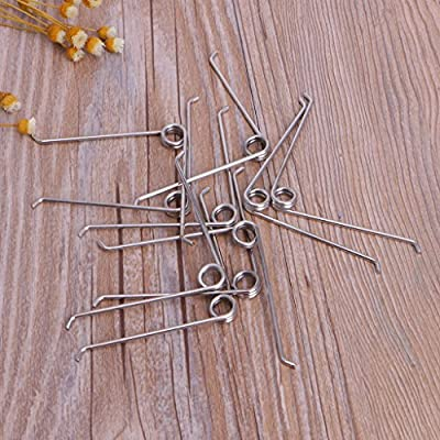 ousifanersty 10Pcs V Shape Steel Compression Spring Gardening Scissors Accessories Tool : Garden & Outdoor