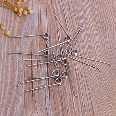 Qisuw 10Pcs V Shape Steel Compression Spring Gardening Scissors Accessories Tool : Garden & Outdoor