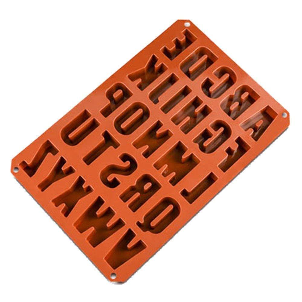 Alwayswe 26 letras chocolate moldes de silicona, moldes de ...
