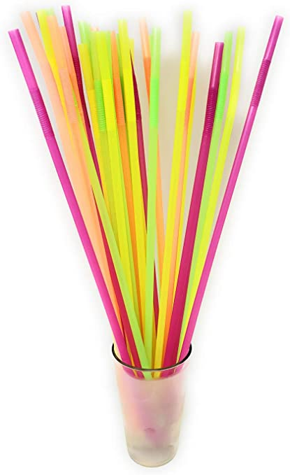 100 Regular Drinking Straws Weddings White Party 20 CM Long Straw