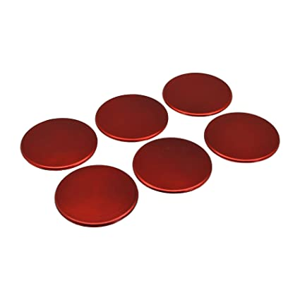 x6 100mm Round Drinks Coasters Drinking Dining Mat Coaster in Black