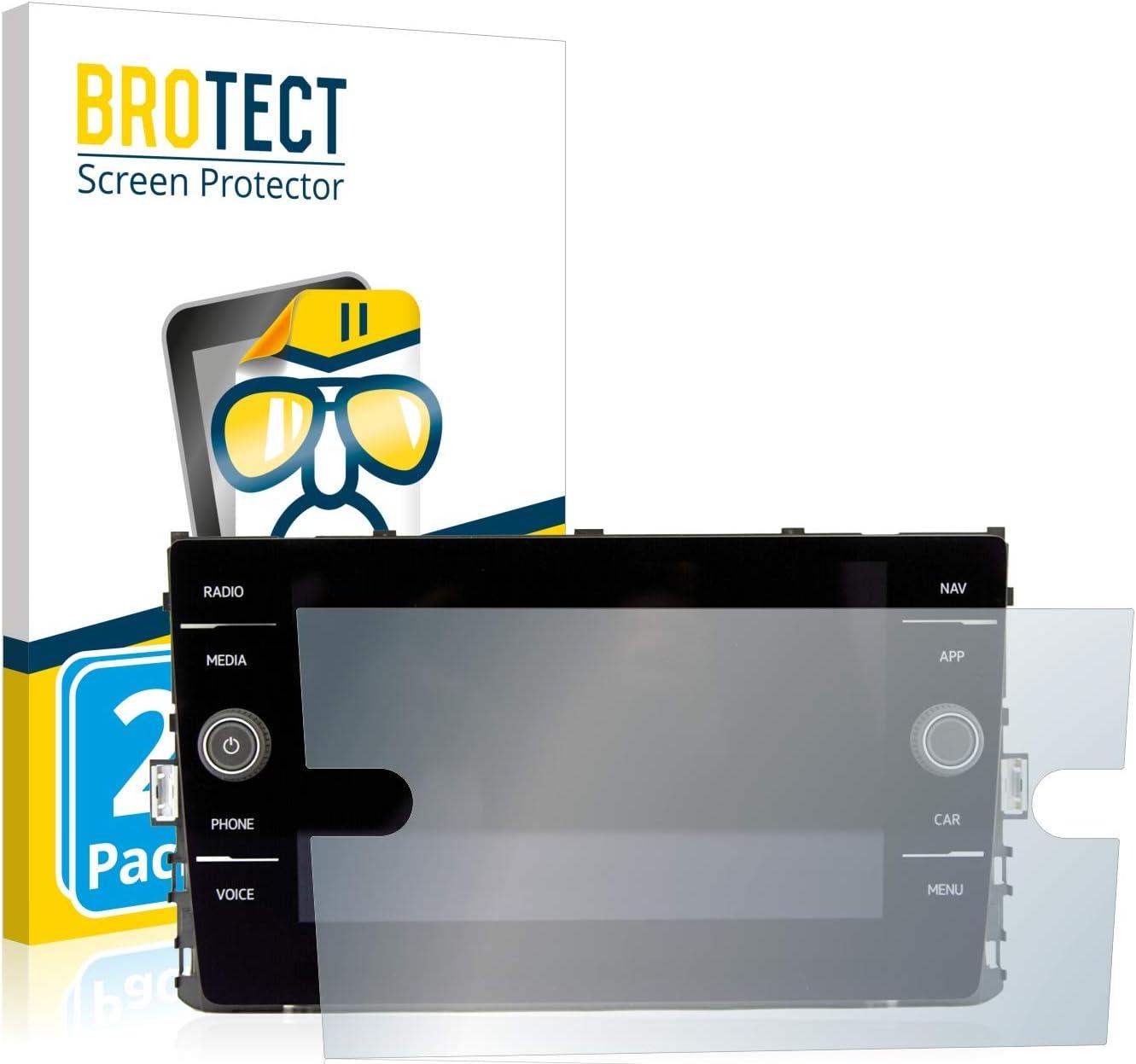 2 Unidades BROTECT Protector Pantalla Compatible con Volkswagen Polo GTI 2019 Composition Media 8 Protector Transparente Anti-Huellas
