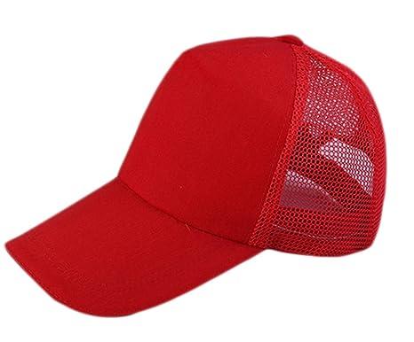 Leisial Gorra de Béisbol Casual Viajes Sombrero Sol al Aire Libre Hats Hip-Hop  Sombrero de Tenis Deporte Golf Verano para Unisex Hombre Mujer 61817ffb9a0