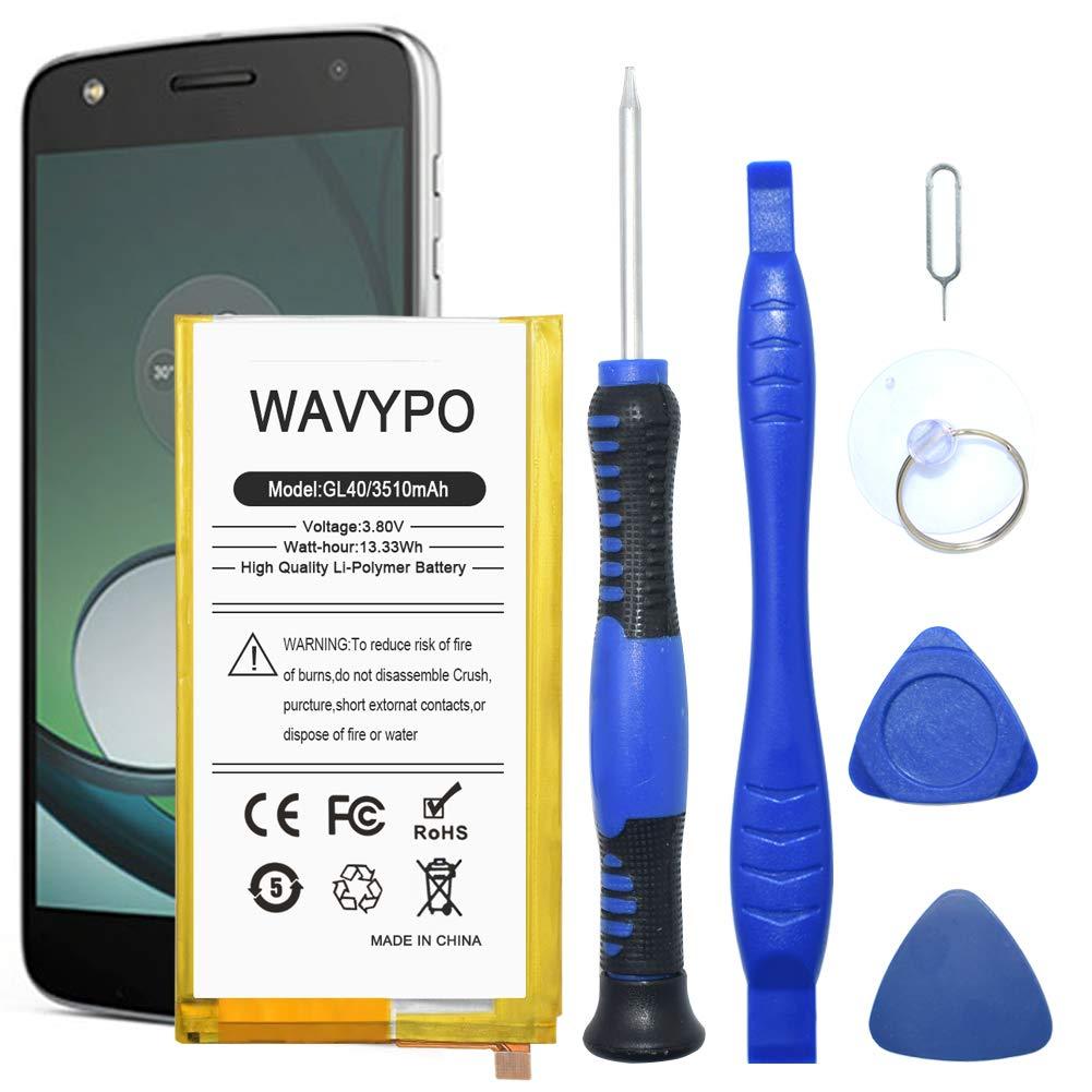 Bateria Celular Gl40 Wavypo 3510mah Li Polymer Built In Snn5974a Compatible Para Motorola Moto Z Play Droid Xt1635 Con T