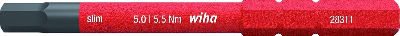 Wiha 2831-18 SW slim-Vario VDE Embout de vissage 6 pans isol/é pour porte-embout slimVario Pas de version slim 2,0 x 75
