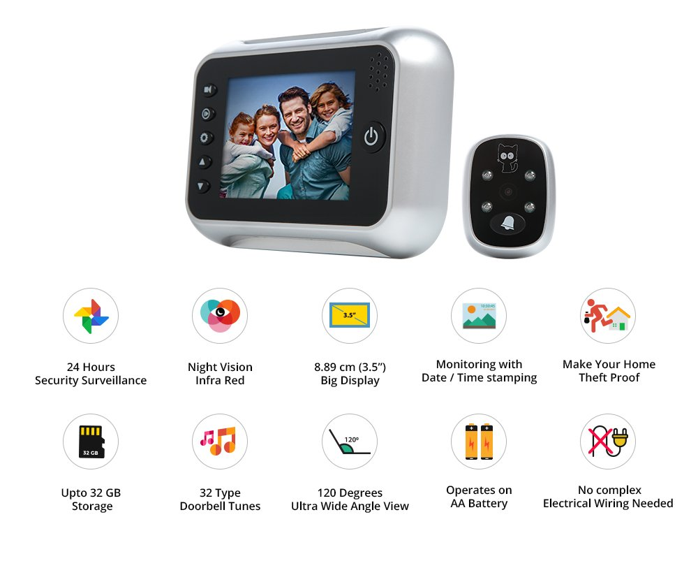 Buy Auxtron Digital Doorbell Camera Online At Low Price In India Household Wiring Reviews Ratings