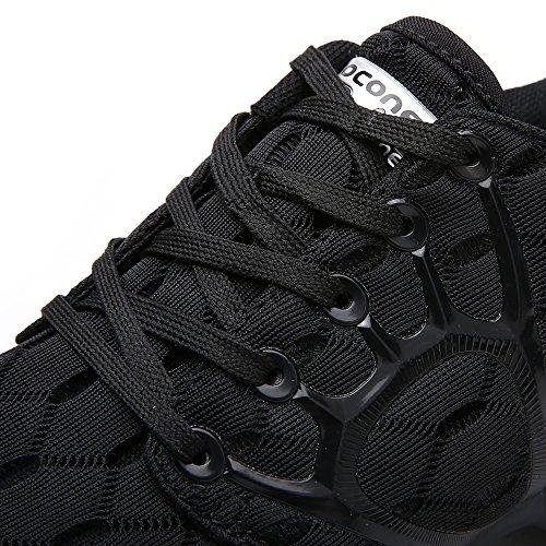 ALEADER Women's Lightweight Mesh Sport Running Shoes Carbon Black 10 D(M) US by ALEADER (Image #8)