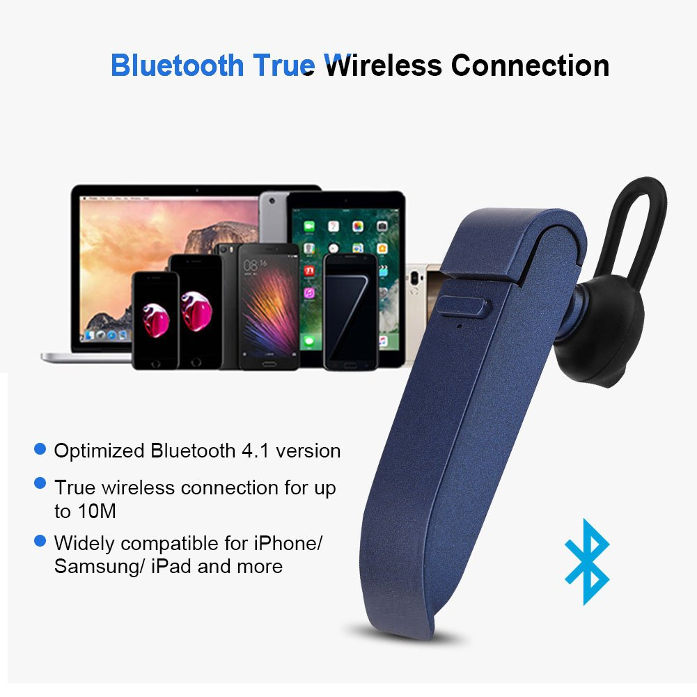 Instant Smart Translator Device Blue Richer-R Portable Perfect Stereo Headset Smart Multi-Language Translation Bluetooth Wireless in Ear Earpiece Earbuds Earphones Business Learning Travel