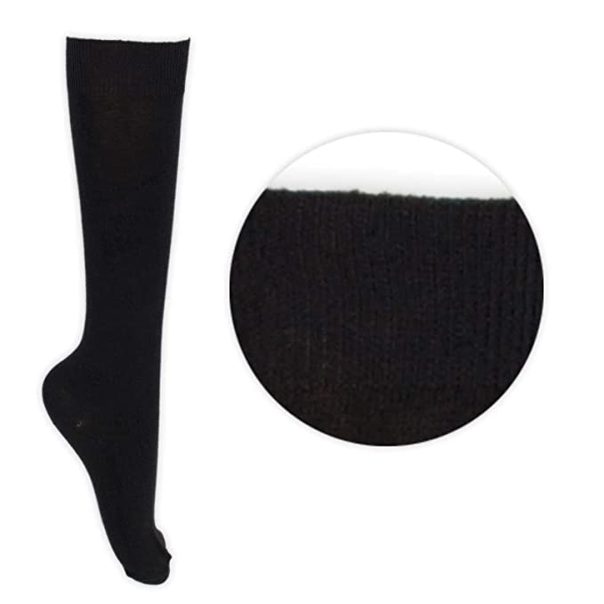Childrens Back 2 School 6 Pairs Knee High Plain School Cotton Rich Socks ADULTS 4-5.5 , Navy
