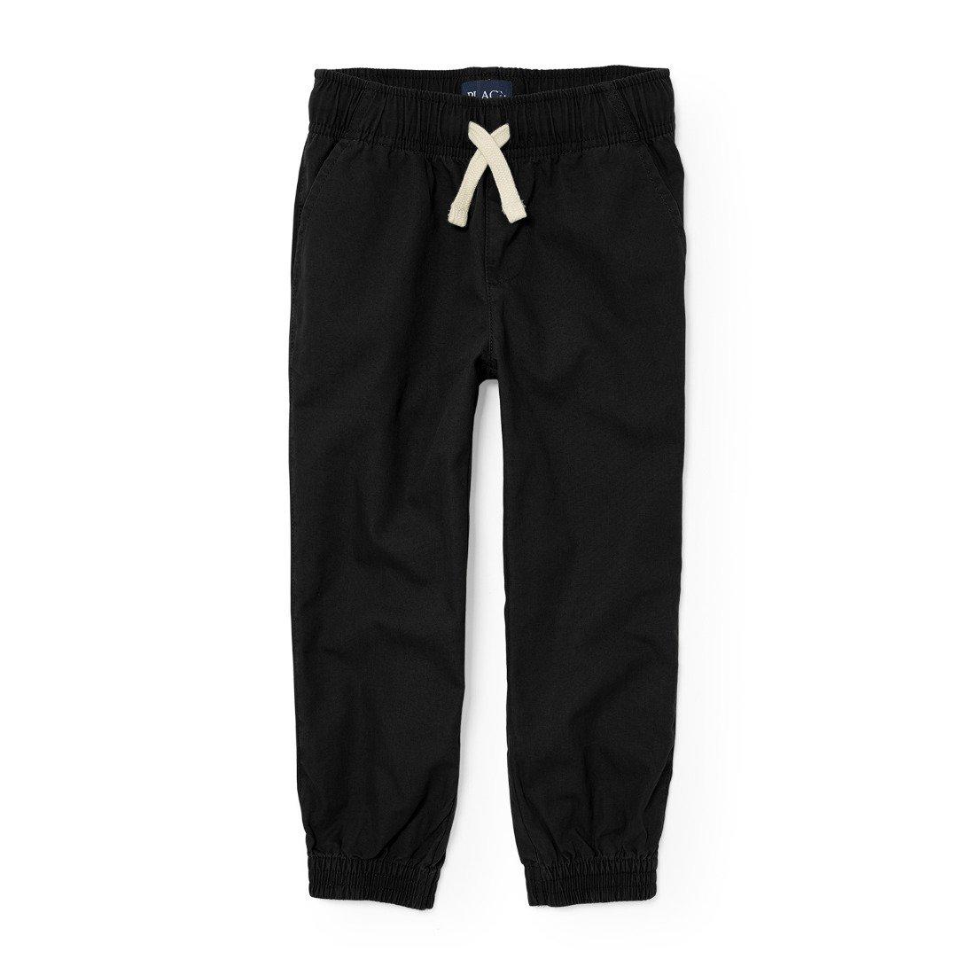 The Children's Place Big Boys' Jogger Pants, Black 8164, 16