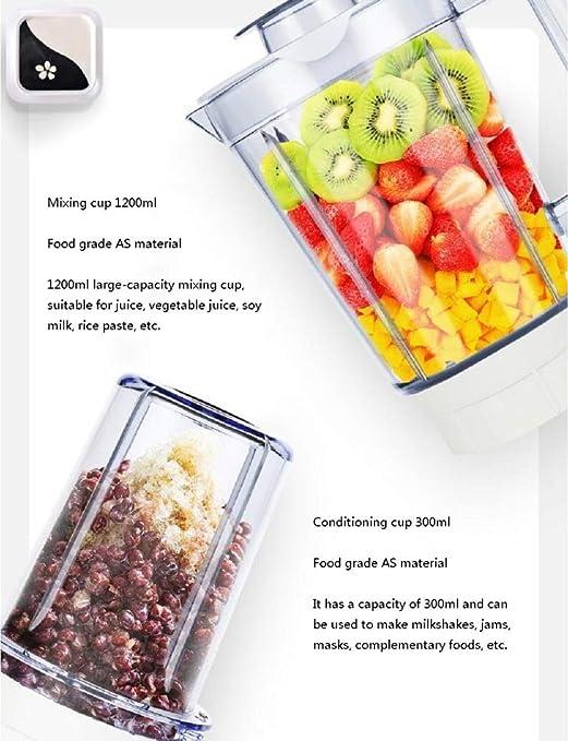 XWH Exprimidor automático casero, máquina de Alimentos Rotos multifunción, Jugo de Leche de Soja de suplemento de Alimentos para bebés,Blanco,Cm: Amazon.es: ...