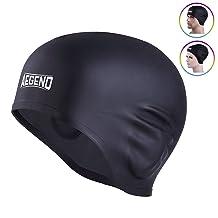 Aegend Solid Silicone Swim Cap
