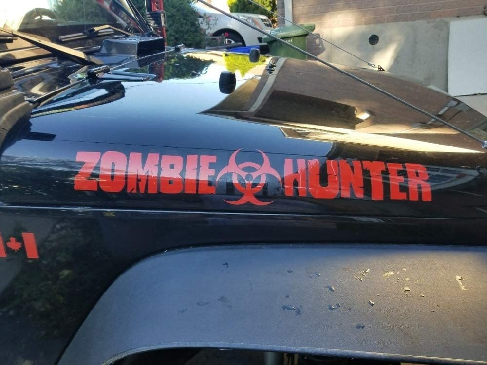 Zombie Hunter Decal outbreak response sticker hood window car truck walking dead