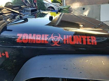 Amazon Com Zombie Hunter Walking Dead Jeep Sticker Response Team