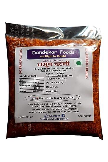 Dandekar Foods Garlic Chutney, 100g