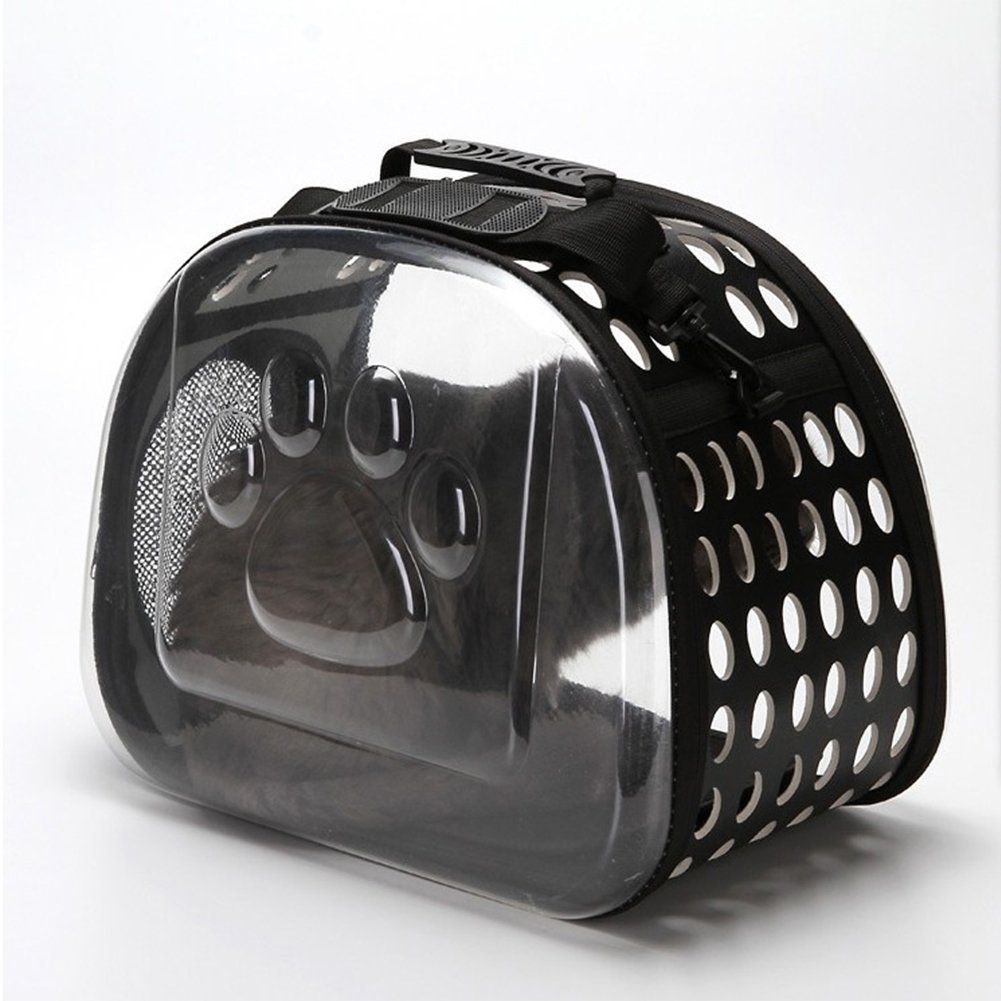 Black Stylish Transparent Pet Carrying Bag
