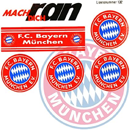 Sticker Aufkleberkarte Logo FC Bayern M/ünchen gratis Aufkleber Gesichtaufkleber etiqueta engomada // autocollant