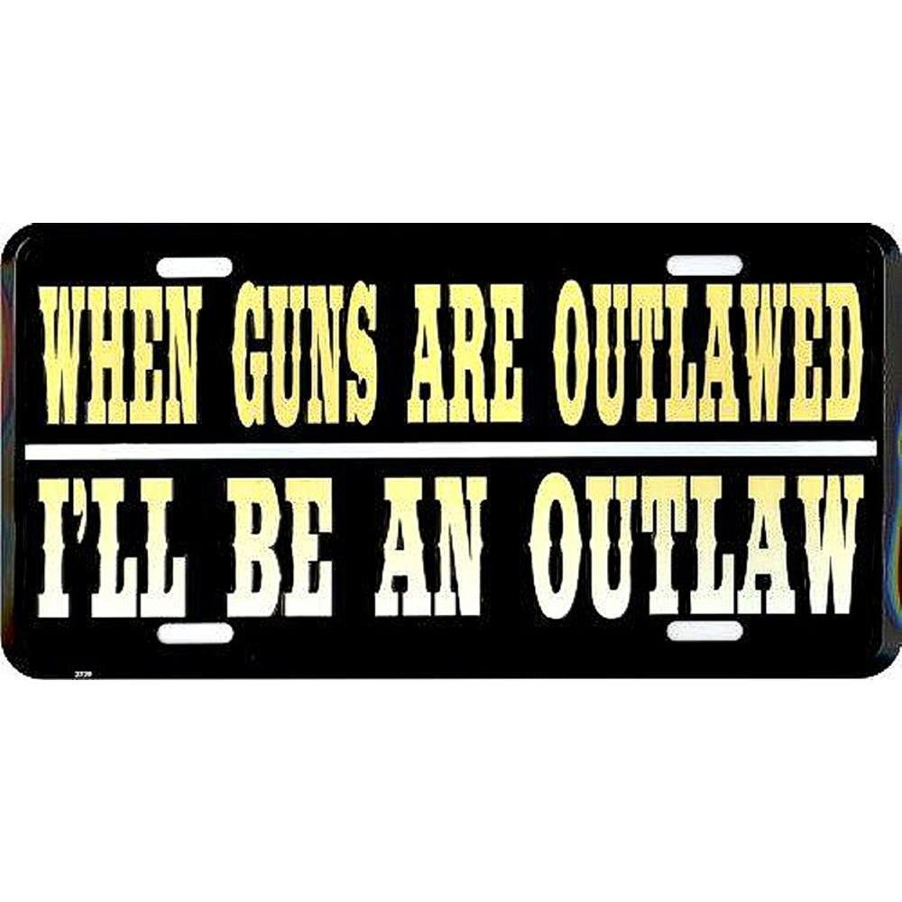 License Plate Signs 4 Fun Slout Outlaw