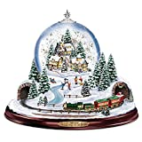 Thomas Kinkade Home for the Holidays Snowglobe: Lights Motion and Music by The Bradford Exchange