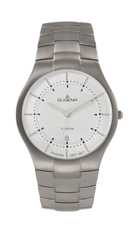 Dugena 4460480 - Reloj analógico de Cuarzo para Hombre, Correa de Titanio Color Gris