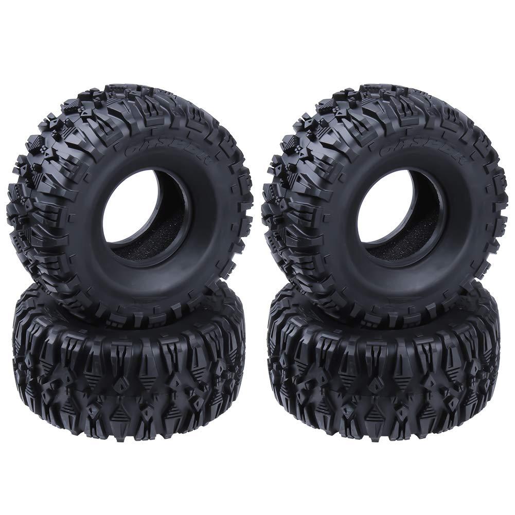 Hobbypark 2.2 Tires w/Foam Fit Beadlock Wheel Rims for 1/10 RC ...