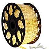 150' Outdoor Rated LED Rope Light Kit - 120V - UL Listed (Warm White, Standard Kit)